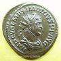 Coins Maximien Hercule, 1er règne (286-305). Antoninien. Lyon, 4e officine, 286. R/: Jupiter