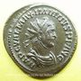 Coins Maximien Hercule, 1er règne (286-305). Antoninien. Lyon, 4e officine, printemps-été 286. R/: Jupiter