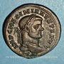Coins Maximien Hercule, 1er règne (286-305). Follis. Ticinum, 2e officine. 296-297. R/: Génie