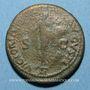 Coins Néron (54-68). Dupondius. Lyon, 66. Contremarqué sous Vespasien de son monogramme