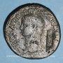 Coins Néron Claudius Drusus († 9 ap J-C). Sesterce frappé sous Claude, Rome, 41-42. Contremarqué NCAPR