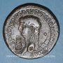 Coins Néron Claudius Drusus († 9 ap J-C). Sesterce frappé sous Claude, Rome, 41-42. Contremarqué PROB