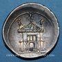 Coins Octave (43-27 av. J-C). Denier. Rome, 29 av. J-C. R/: Curia Julia