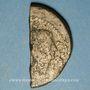 Coins Octave et César. As (= dupondius coupé). Vienne, vers 36 av. J-C
