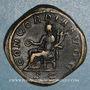Coins Otacilie, épouse de Philippe I. Sesterce. Rome, 245-247. R/: la Concorde