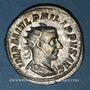 Coins Philippe I (244-249). Antoninien. Rome, 244-245. R/: la Valeur assise à gauche