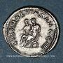 Coins Philippe II, auguste (247-249). Antoninien. Rome, 247. R/: Philippe père et son fils assis à gauche
