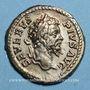 Coins Septime Sévère (193-211). Denier. Rome, 203. R/: la Fortune assise à gauche