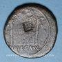 Coins Tibère (14-37). As frappé sous Auguste. Lyon, 10. Contremarqué ART en monogramme vers 23-25