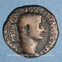 Coins Tibère (14-37). As frappé sous Auguste. Rome, 10-11. Contremarque TB (les deux lettres liées)