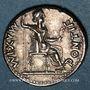 Coins Tibère (14-37). Denier. Lyon, après juillet 33. R/: la Justice assise