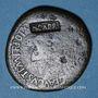 Coins Tibère (14-37). Sesterce. Rome, vers 35-37. Contremarqué : NCAPR sous Néron