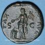 Coins Titus, césar (69-79). Dupondius. Lyon 77-78. R/: la Paix