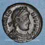 Coins Valens (364-378). Centénionalis. Siscia, 2e officine, 365. R/: l'empereur debout à droite