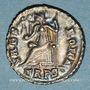 Coins Valens (364-378). Silique. Trèves, 367-375. R/: Rome assise à gauche