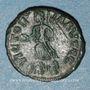 Coins Valentinien II (375-392). 1/2 centénionalis. Siscia, 2e officine, 384-387. R/:Victoire marchant à g.
