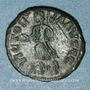 Coins Valentinien II (375-392). 1/2 centénionalis. Siscia, 2e officine, 384-387. R/: Victoire