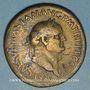 Coins Vespasien (69-79). Sesterce. Rome, 71. R/: Rome debout à gauche