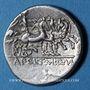 Coins Appius Claudius Pulcher, T. Manlius Mancinus et Q. Urbinus (vers 111-110 av. J-C). Denier