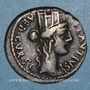 Coins République romaine. A. Plautius (vers 55 av. J-C). Denier