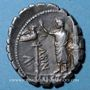 Coins République romaine. A. Postumius A. F. Sp. N. Albinus (vers 81 av. J-C). Denier