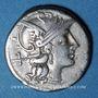 Coins République romaine. Atilius Saranus (vers 155 av. J-C). Denier