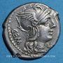 Coins République romaine. C. Aburius Geminus (vers 134 av. J-C). Denier