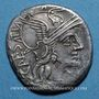Coins République romaine. C. Antestius (vers 146 av. J-C). Denier fourré