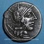 Coins République romaine. C. Cato (vers 123 av. J-C). Denier