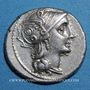 Coins République romaine. C. Claudius Pulcher (vers 110-109 av. J-C). Denier