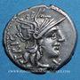 Coins République romaine. C. Curiatius f. Trigeminus (vers 135 av. J-C). Denier