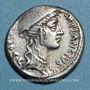 Coins République romaine. Cn. Plantius (vers 55 av. J-C). Denier