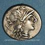 Coins République romaine. Decimius Flavus (vers 150 av. J-C). Denier