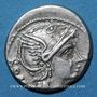 Coins République romaine. L. Flaminius Chilo (vers 109-108 av. J-C). Denier