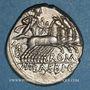 Coins République romaine. M. Baebius Q. f. Tampilus (vers 137 av. J-C). Denier