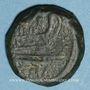 Coins République romaine. M. Fabrinius (132 av. J-C). Quadrans