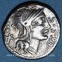 Coins République romaine. M. Sergius Silus (vers 116-115 av. J-C). Denier