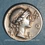 Coins République romaine. Man. Aemilius Lépidus (vers 114-113 av. J-C). Denier