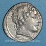 Coins République romaine. Monnayage anonyme. Denier, vers 86 av. J-C