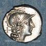 Coins République romaine. Pinarius Natta (vers 155 av. J-C). Denier
