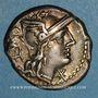 Coins République romaine. Q. Caecilius Metellus (vers 130 av. J-C). Denier