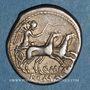 Coins République romaine. Q. Marcius Libo (vers 148 av. J-C). Denier