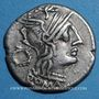Coins République romaine. T. Cloelius (vers 128 av. J-C). Denier