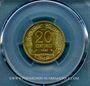 Coins 5e république (1959- ). Concours de 20 centimes 1961. Essai de Robert