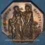 Coins Association de Prévoyance du Notariat de France 1870(74). Jeton octogonal argent