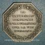 Coins Assurances. La Nationale. Assurance Vie. Jeton argent 1830. Poinçon : abeille