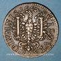 Coins Besançon. Co-gouverneurs. Bon Anathoile Monnier, seigneur de Noironte. Jeton cuivre 1667