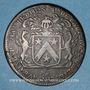 Coins Bourgogne. Mairie de Dijon. M. de Badier. Jeton cuivre 1686