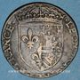 Coins Eléonore d'Autriche (épouse de François I 1530-58) et son trésorier Nicolas van Laen. Jeton cuivre