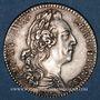 Coins Etats de Bretagne. Louis XV. Jeton argent 1768